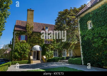 wine tasting room, reception, Jordan Winery, Healdsburg, Alexander Valley, Sonoma County, California, United States, - Stock Image