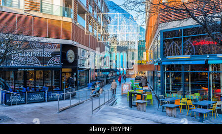 Entrance to the Highcross Centre in Leicester. - Stock Image
