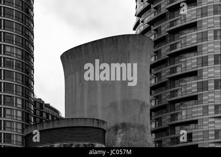 Buildings Near Blackwall, Poplar, London, England, United Kingdom - Stock Image