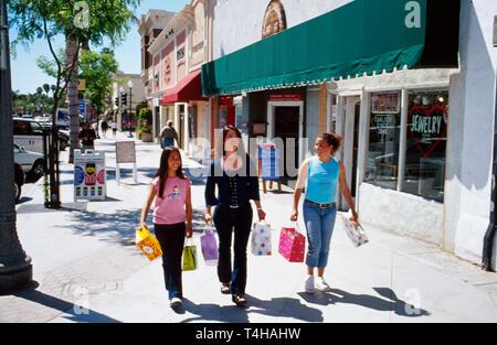 California Ventura Main Street shopping - Stock Image