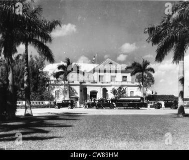 Entrance, Hialeah Racetrack, Florida, 1940 - Stock Image