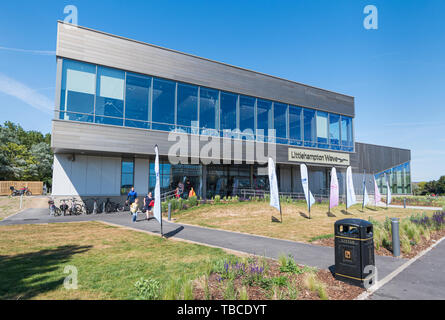 Littlehampton Wave, a new modern leisure centre from Freedom Leisure with gym, swimming pool & sports hall in Littlehampton, West Sussex, England, UK. - Stock Image