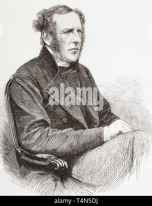 John Thomas Pelham, 1811 – 1894.  British Anglican clergyman.   From The Illustrated London News, published 1865. - Stock Image