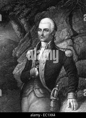 Francis Barber (1750-1783) on engraving from 1835.  Colonel in the Continental Army during the American Revolutionary - Stock Image