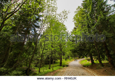 Karpacz, Poland - May 9, 2018: Footpath with - Stock Image