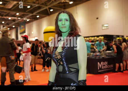London, UK. 26th May 2017.  The annual London and Europe's premier MCM Comic-Con 3 day event at the Excel Centre - Stock Image