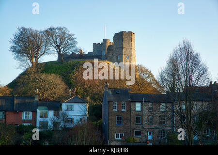 Lewes Castle & Houses - Stock Image