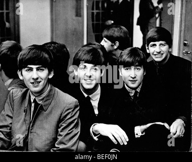 The Beatles - George Harrison, Paul McCartney, John Lennon and Ringo Starr. - Stock Image