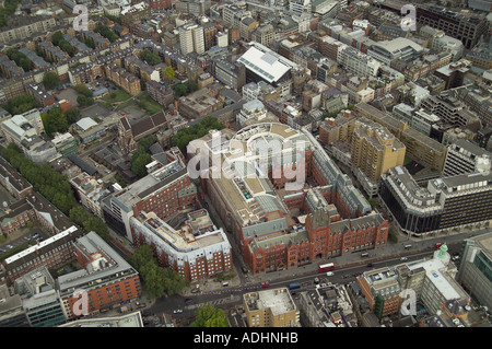 Aerial view of Waterhouse Square on Holborn in London - Stock Image