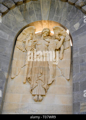 Detail of the National War Memorial is a monument in North Terrace, Adelaide, South Australia, commemorating those who served in the First World War. - Stock Image