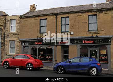 Rossini Italian restaurant in Amble  Amble is a small town on the north east coast of Northumberland with a wide range of places to eat. Cw 6656 - Stock Image