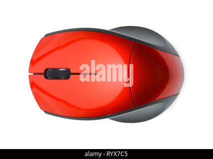 Computer Mouse Top View Isolated on White. - Stock Image