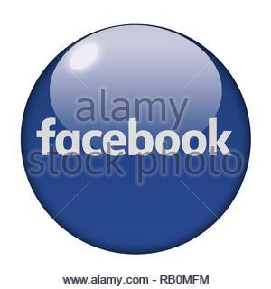 Facebook company logo - Stock Image