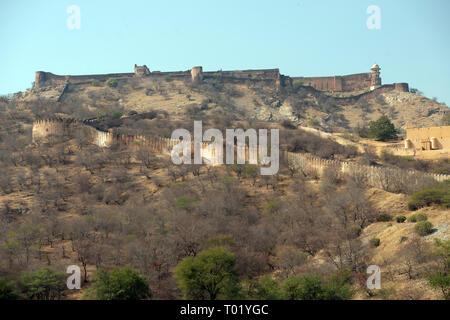 Amer (Amber) Fort, Jaipur, Rajasthan, India. - Stock Image