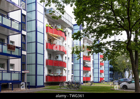 the Stegerwald housing estate in the district Muelheim, climate-protection housing estate, Cologne, Germany.  die Stegerwaldsiedlung im Stadtteil Muel - Stock Image