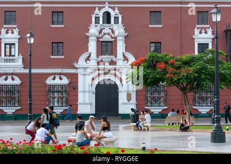 Historic Centre of city of Trujillo in region of La Libertad in northern Peru - Stock Image