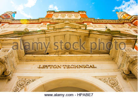 Leyton Technical the former grade 2 Town Hall In Leyton, London, UK Europe, which is now a Public House or pub - Stock Image