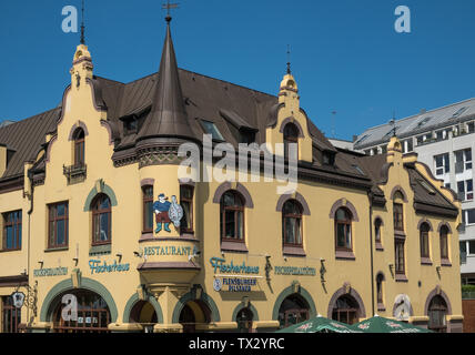 Fischerhaus Restaurant building exterior, St Pauli, Hamburg, Germany. - Stock Image