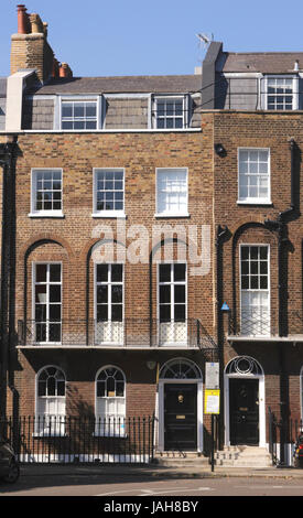 Terraced residential flats at Canonbury Square Islington London - Stock Image