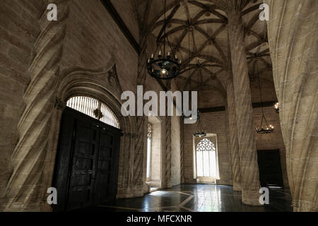 La Lonja, former silk and commodities exchange building with a gothic style, and now a World Heritage Site, Valencia, Spain. - Stock Image
