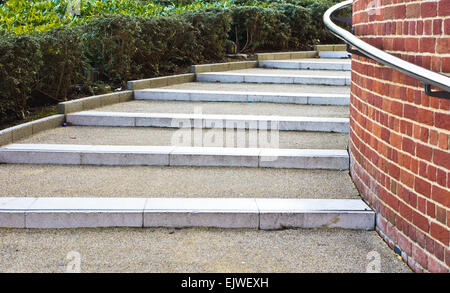 Modern stone steps in a UK city - Stock Image
