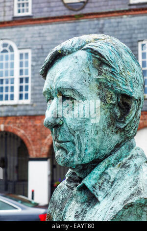 The statue of Peter Barry in Kinsale, Ireland. - Stock Image