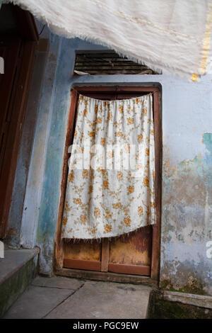 Door in the old city of Varanasi, India - Stock Image