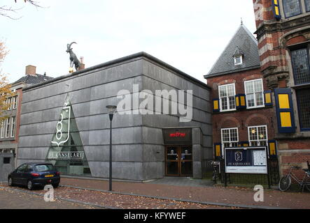 Nieuwe Kanselarij (New Chancellery) former annex to the Frisian Museum at Turfmarkt street, central Leeuwarden, - Stock Image