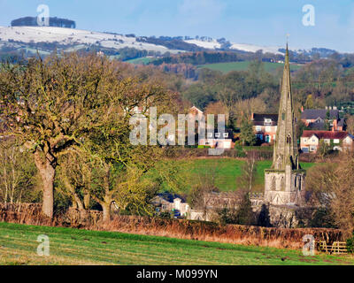 Peak District National Park, Ashbourne. 19th Jan, 2018. UK Weather: snow scenes around the market town of Ashbourne - Stock Image