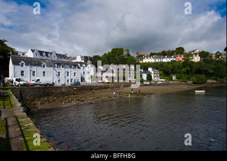 photograph of portree town isle of skye - Stock Image