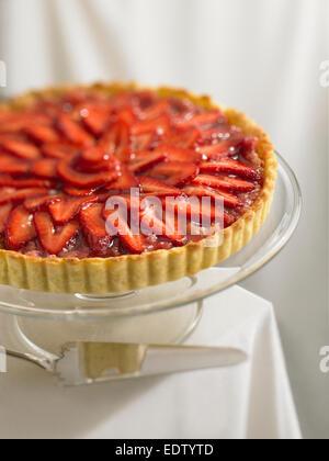 Strawberry Rhubarb tart - Stock Image