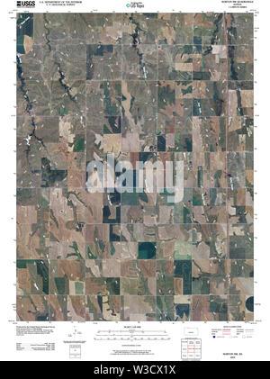 USGS TOPO Map Kansas KS Norton NW 20091116 TM Restoration - Stock Image