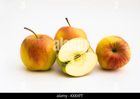 A selection 'less than perfect' but delicious eating apples variety SMITTEN bought in an English supermarket - Stock Image