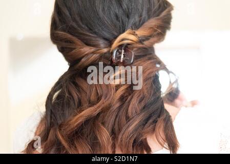 Wedding hair - Stock Image