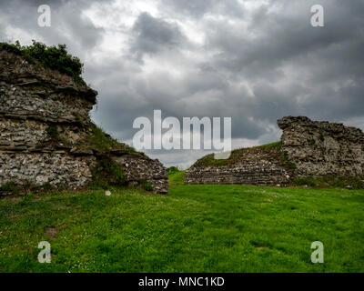 South gate at Silchester, the Roman town in Hampshire, UK - Stock Image