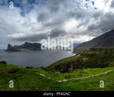 Hout Bay, Western Cape near Cape Town, South Africa, from Chapman's Peak drive - Stock Image
