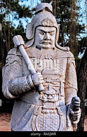 China Spiritual Way Avenue Of Statues - Stock Image