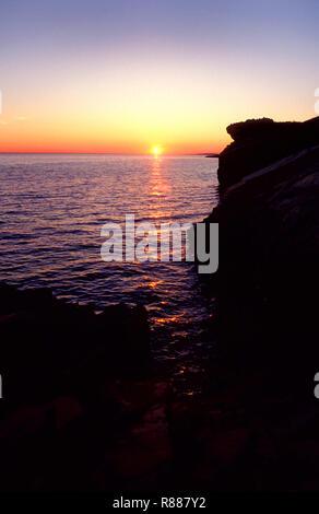 Coastal Sunset, Croatia - Stock Image