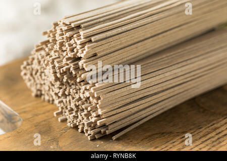 Dried Organic Buckwheat Soba Noodles Ready to Cook - Stock Image