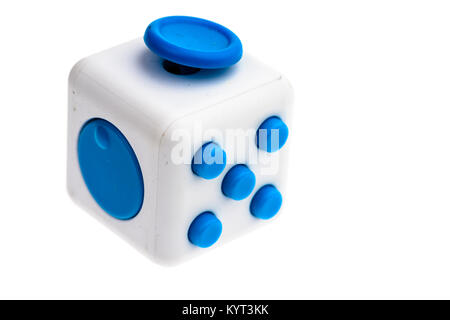 Fidget cube toy used to help relieve stress. - Stock Image