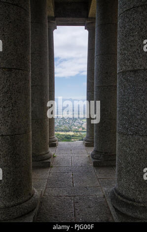 Pillars at the Rhodes Memorial in Capetown, South Africa - Stock Image