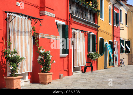 Burano island,Venice, Italy - Stock Image