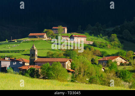 Beautiful view of Arrazola village in Basque Country - Stock Image