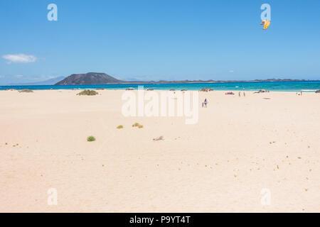 Corralejo Dunes Natural Park in Fuerteventura, Canary Islands - Spain - Stock Image