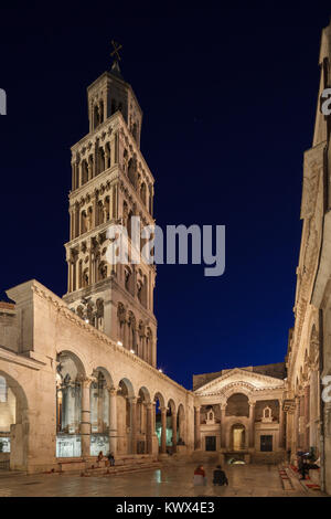 St. Domnius Cathedral Bell Tower & Peristyle, Split, Croatia - Stock Image