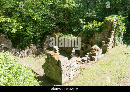 The remains of 18th century Prudhoe castle mill  in Northumberland, England, UK - Stock Image