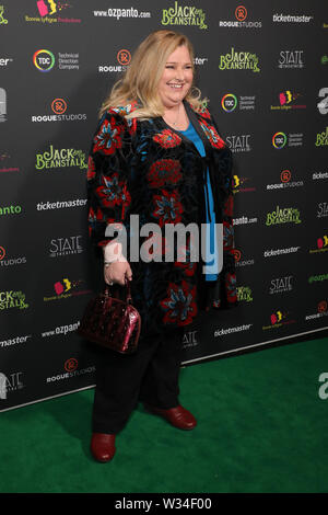 Sydney, Australia. 12th July 2019. Jack and the Beanstalk Giant 3D musical spectacular red carpet at the State Theatre. Pictured: Laura Mulcahy. Credit: Richard Milnes/Alamy Live News - Stock Image