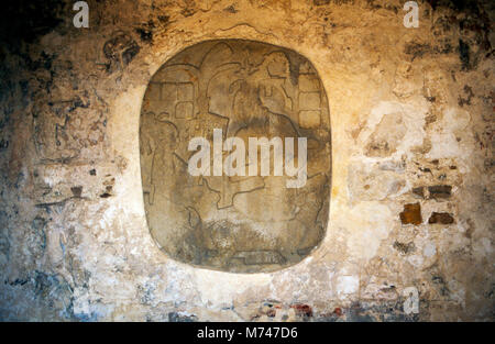K'inich Janaab' Pakal (Pacal the Great) ascended to the throne of the Maya city, Palenque in Mexico, at - Stock Image