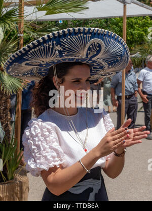 Spanish dancers at a local festival - Stock Image
