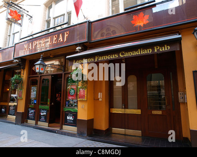 The Maple Leaf Pub, Covent Garden London. - Stock Image